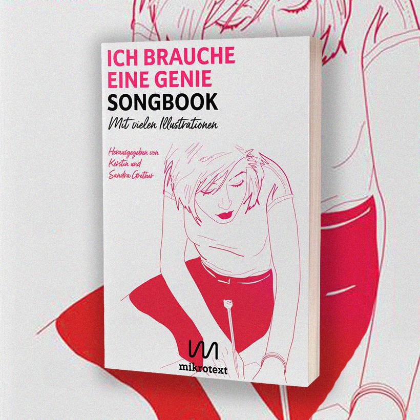 """""""Ich brauche eine Genie"""" Songbuch Cover"""